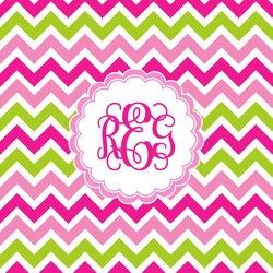 Pink & Green Chevron