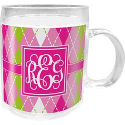 Pink & Green Argyle Acrylic Kids Mug (Personalized)