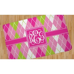Pink & Green Argyle Area Rug - 5'x8' (Personalized)