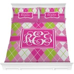 Pink & Green Argyle Comforters (Personalized)