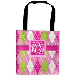 Pink & Green Argyle Auto Back Seat Organizer Bag (Personalized)