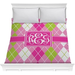 Pink & Green Argyle Comforter (Personalized)