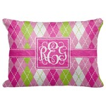 "Pink & Green Argyle Decorative Baby Pillowcase - 16""x12"" (Personalized)"