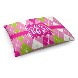Pink & Green Argyle Dog Bed (Personalized)