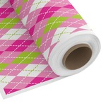 Pink & Green Argyle Custom Fabric by the Yard (Personalized)