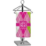 Pink & Green Argyle Finger Tip Towel - Full Print (Personalized)