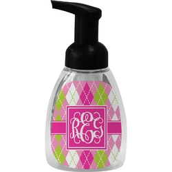 Pink & Green Argyle Foam Soap Dispenser (Personalized)