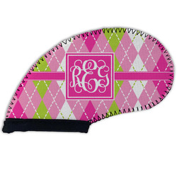 Pink & Green Argyle Golf Club Cover (Personalized)