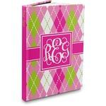 Pink & Green Argyle Hardbound Journal (Personalized)
