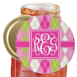 Pink & Green Argyle Jar Opener (Personalized)