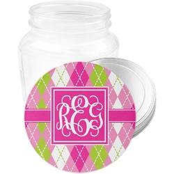 Pink & Green Argyle Jar Opener (Personalized)