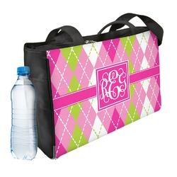 Pink & Green Argyle Ladies Workout Bag (Personalized)
