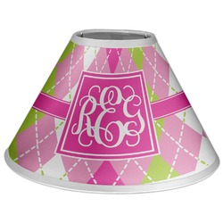 Pink & Green Argyle Coolie Lamp Shade (Personalized)