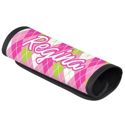 Pink & Green Argyle Luggage Handle Cover (Personalized)