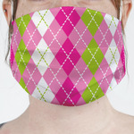 Pink & Green Argyle Face Mask Cover (Personalized)
