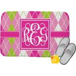 Pink & Green Argyle Memory Foam Bath Mat (Personalized)