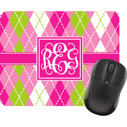 Pink & Green Argyle Mouse Pads (Personalized)