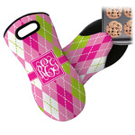 Pink & Green Argyle Neoprene Oven Mitt (Personalized)