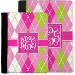 Pink & Green Argyle Notebook Padfolio w/ Monogram