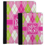 Pink & Green Argyle Padfolio Clipboard (Personalized)