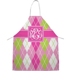 Pink & Green Argyle Apron (Personalized)