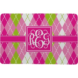 Pink & Green Argyle Comfort Mat (Personalized)