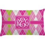 Pink & Green Argyle Pillow Case (Personalized)