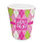 Pink & Green Argyle Plastic Tumbler 6oz (Personalized)