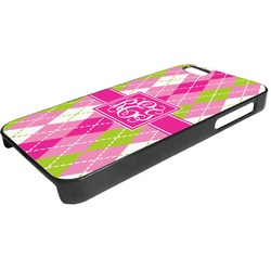 Pink & Green Argyle Plastic iPhone 5/5S Phone Case (Personalized)
