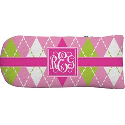 Pink & Green Argyle Putter Cover (Personalized)
