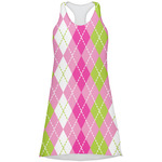 Pink & Green Argyle Racerback Dress (Personalized)