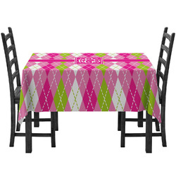 Pink & Green Argyle Tablecloth (Personalized)