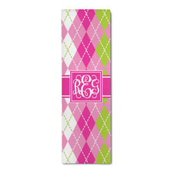 Pink & Green Argyle Runner Rug - 3.66'x8' (Personalized)