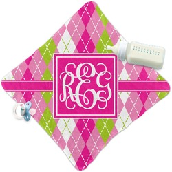 Pink & Green Argyle Security Blanket (Personalized)