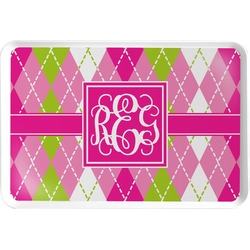 Pink & Green Argyle Serving Tray (Personalized)