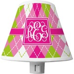 Pink & Green Argyle Shade Night Light (Personalized)