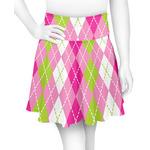 Pink & Green Argyle Skater Skirt (Personalized)