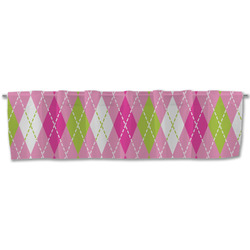 Pink & Green Argyle Valance (Personalized)