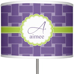 """Waffle Weave 13"""" Drum Lamp Shade (Personalized)"""