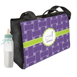 Waffle Weave Diaper Bag (Personalized)