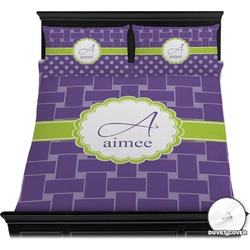 Waffle Weave Duvet Cover Set (Personalized)