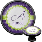 Waffle Weave Cabinet Knob (Black) (Personalized)