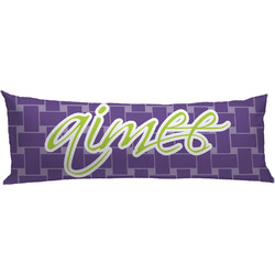 Waffle Weave Body Pillow Case (Personalized)