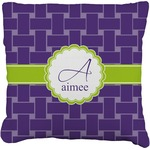 Waffle Weave Faux-Linen Throw Pillow (Personalized)
