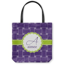 Waffle Weave Canvas Tote Bag (Personalized)