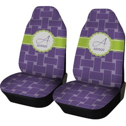Waffle Weave Car Seat Covers (Set of Two) (Personalized)