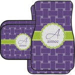 Waffle Weave Car Floor Mats Set - 2 Front & 2 Back (Personalized)