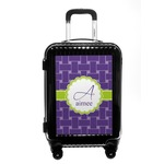 Waffle Weave Carry On Hard Shell Suitcase (Personalized)