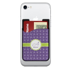Waffle Weave Cell Phone Credit Card Holder (Personalized)