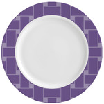 Waffle Weave Ceramic Dinner Plates (Set of 4) (Personalized)